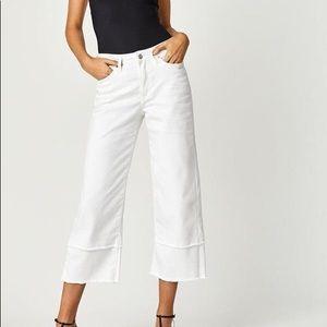 Mavi White Crop Jeans
